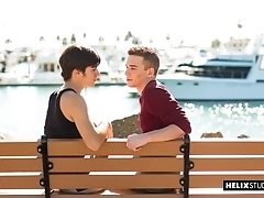 Brad Chase and Wyatt Walker - It's a beautiful day by the bay! Hottest Helix models Brad Chase and Wyatt Walker are adding to that beauty.